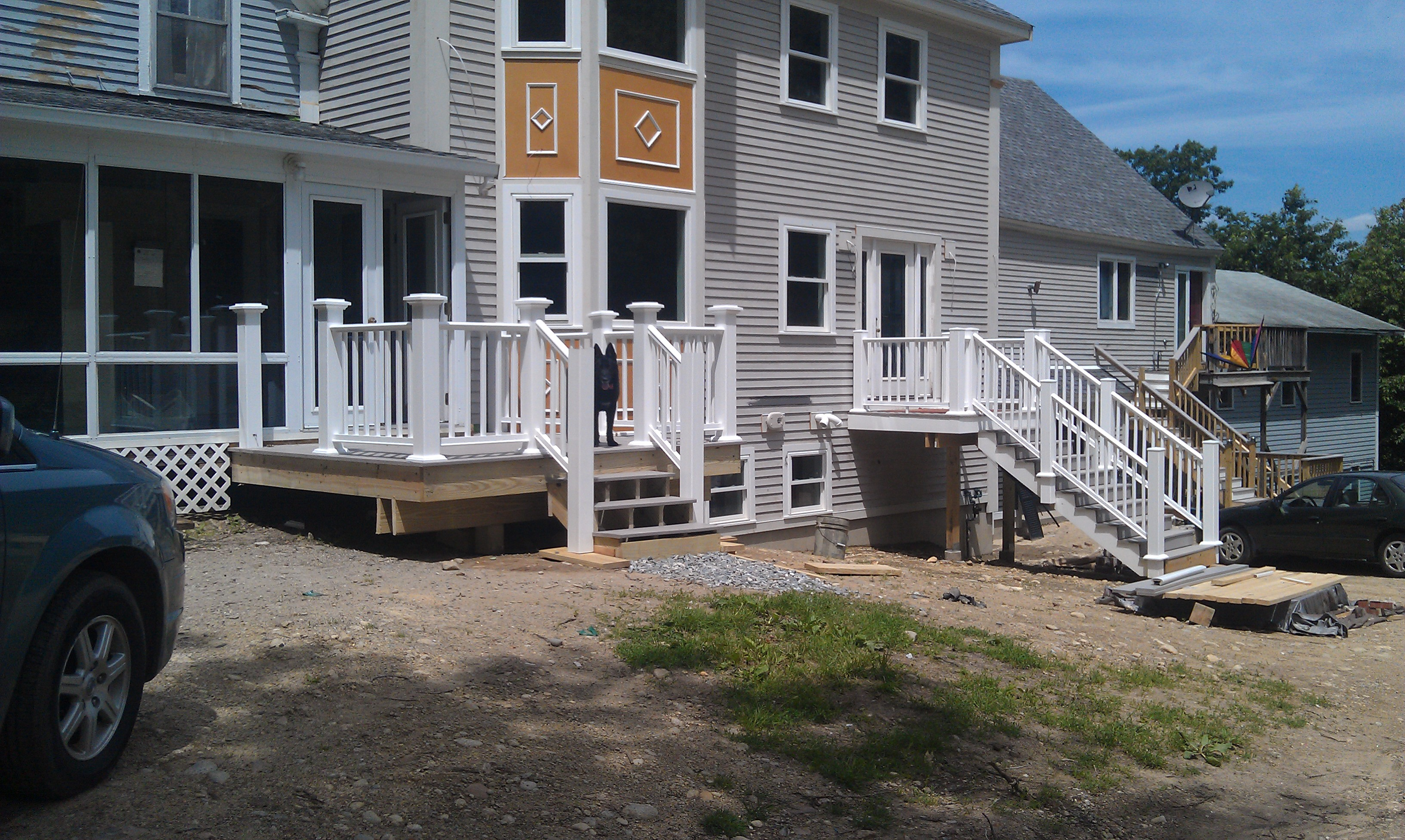 Front porch deck is almost complete allen remodeling