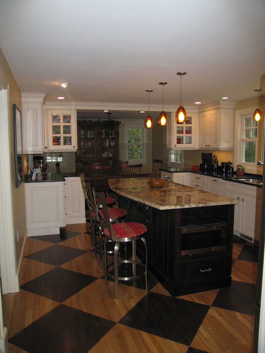 converting your dining room and kitchen into a large kitchen remodel