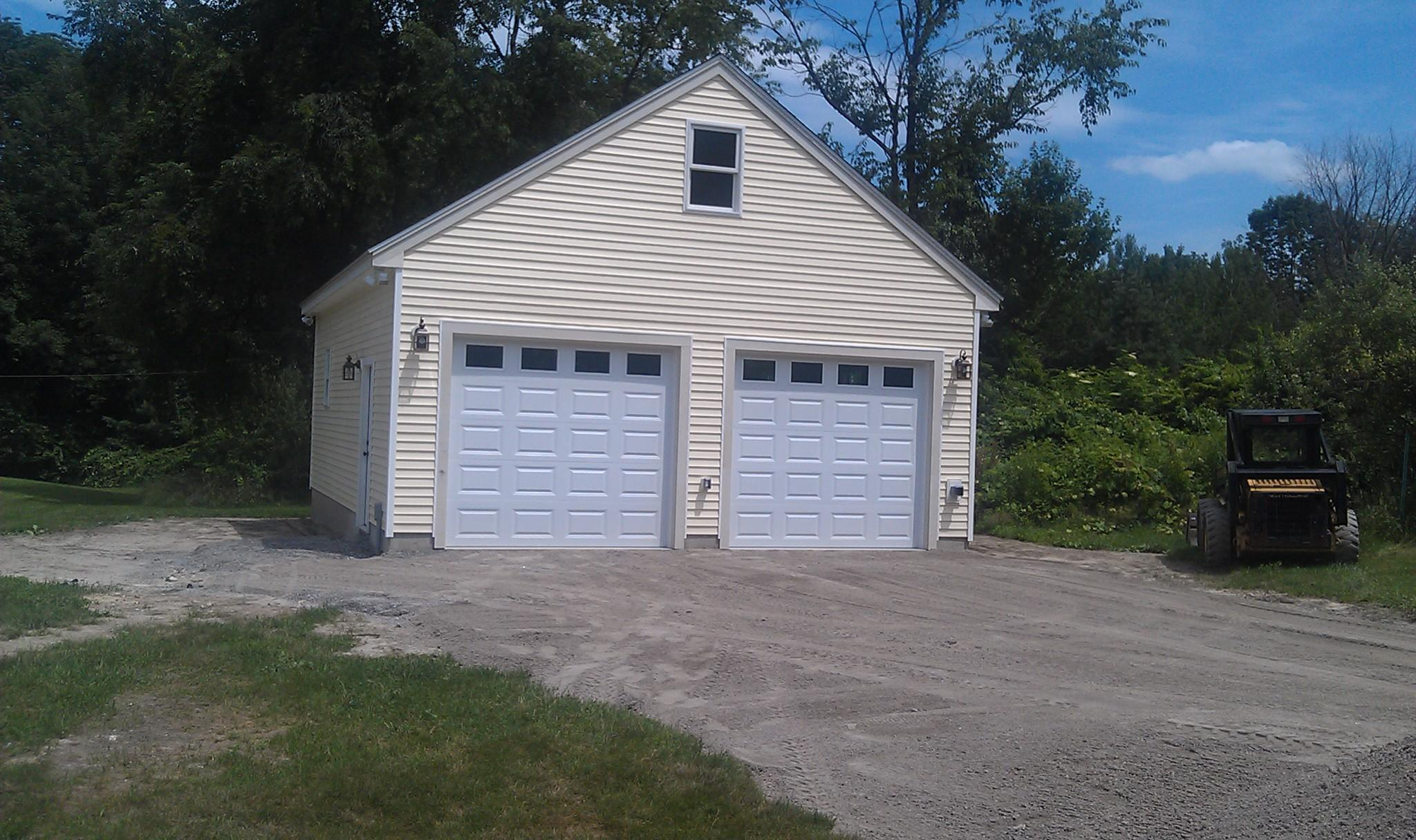 Garage addition is complete in merrimack nh allen remodeling for Attached garage addition