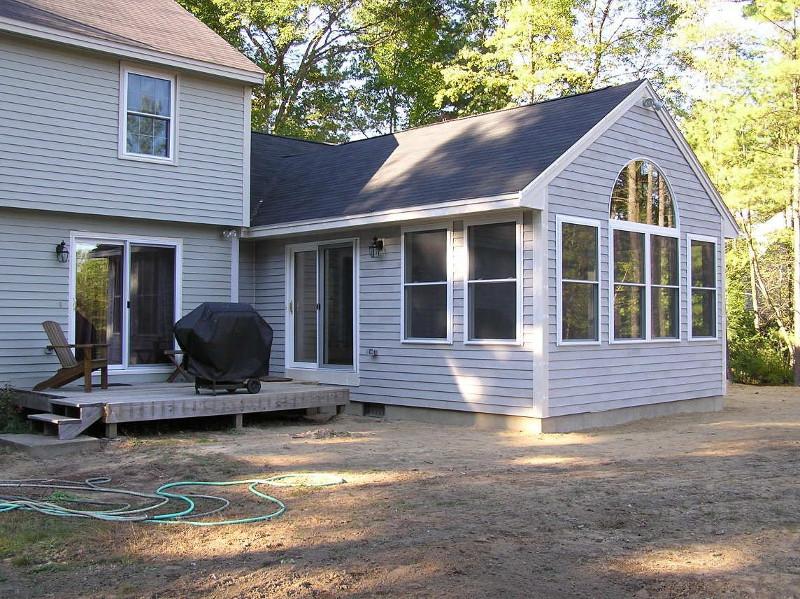 attic floor deck ideas - Building a family room addition
