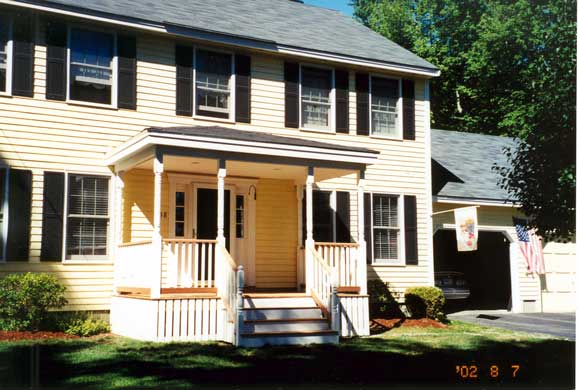 Building An Overhang And Front Porch In Milford NH