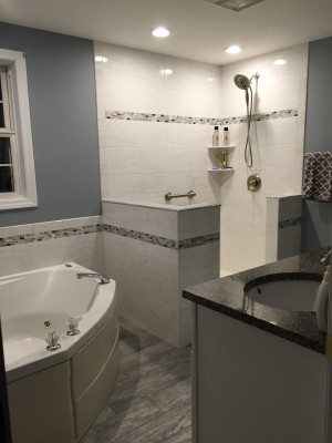 Can Your Bathroom Use A Dazzling Remodel Just Like This One?? We Just  Finished This Tiled Bathroom In Amherst NH. Bathroom And Kitchen Remodels  Have Been ...